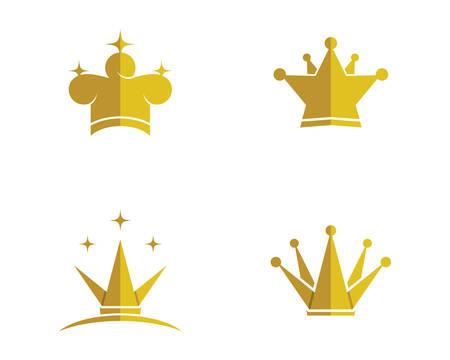 Illustration pour Crown template illustration - image libre de droit