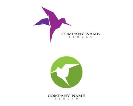 Hummingbird logo template vector icon illustration design