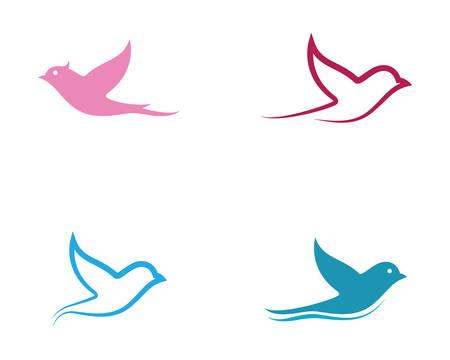 Illustration pour Dove logo template vector icon illustration design - image libre de droit