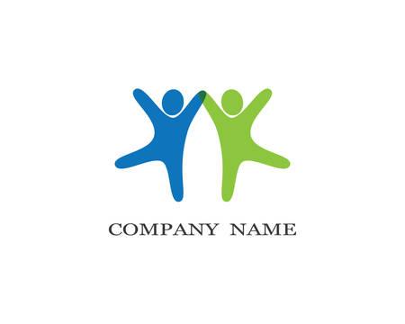 Illustration pour Adoption and community care logo template vector icon illustration design - image libre de droit