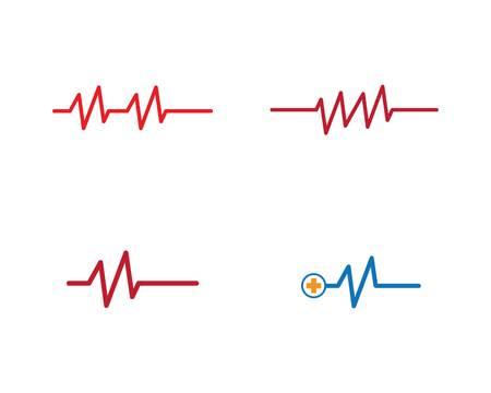 Illustration pour Pulse logo template vector icon illustration design - image libre de droit