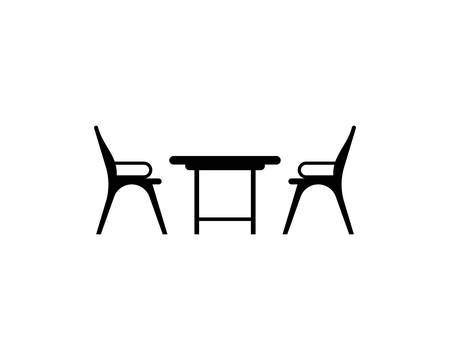 Illustration pour Table chair symbol illustration design - image libre de droit