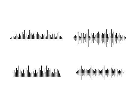 Illustration pour Sound wave logo template vector icon illustration - image libre de droit