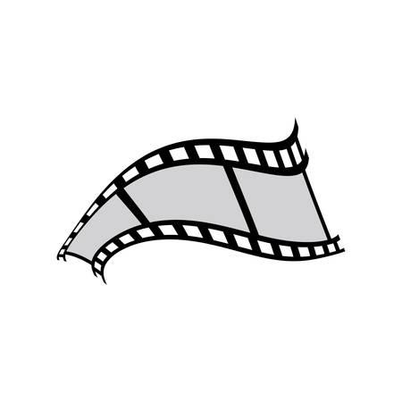 Illustration for Filmstrip vector icon illustration design - Royalty Free Image