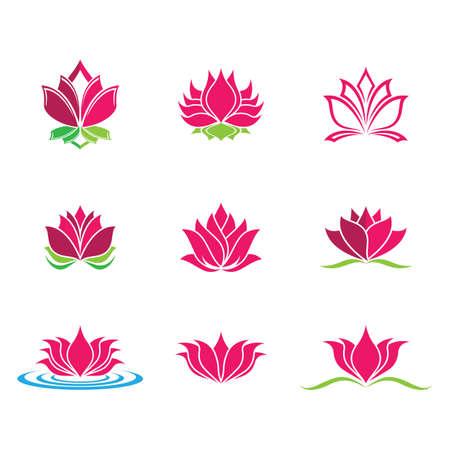 Illustration pour Lotus symbol vector icon illustration - image libre de droit
