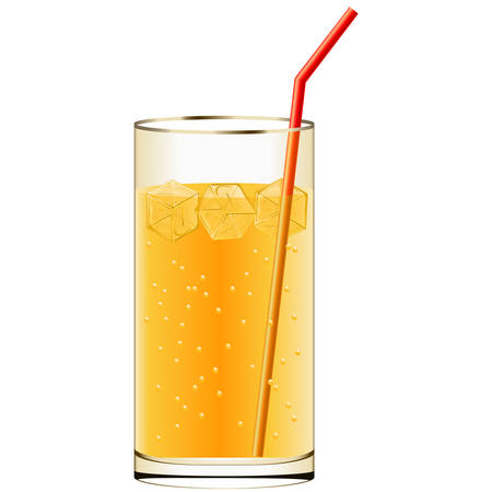 cold drink with ice cubes