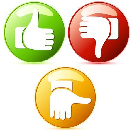 Illustration pour Thumb up and down buttons - image libre de droit