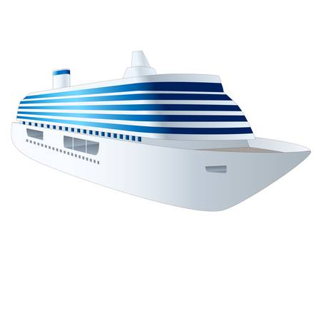 cruise ship isolated on white background
