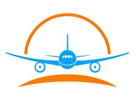 Illustration for airplane, aircraft - sign, symbol - Royalty Free Image