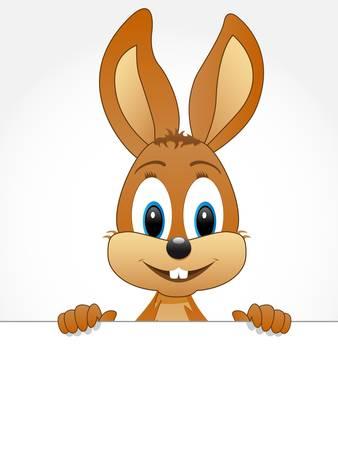 Ilustración de easter bunny with teeth - Imagen libre de derechos