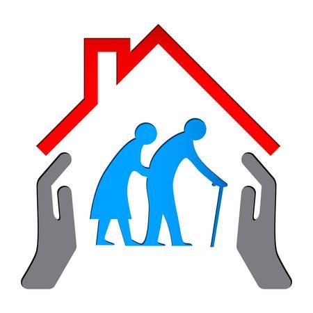 Illustration pour Nursing home sign - image libre de droit