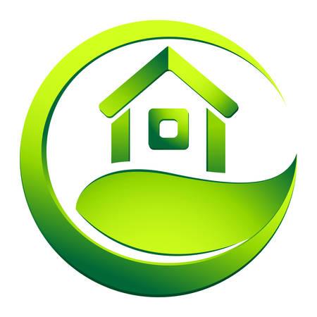 eco friendly house - real estate symbol