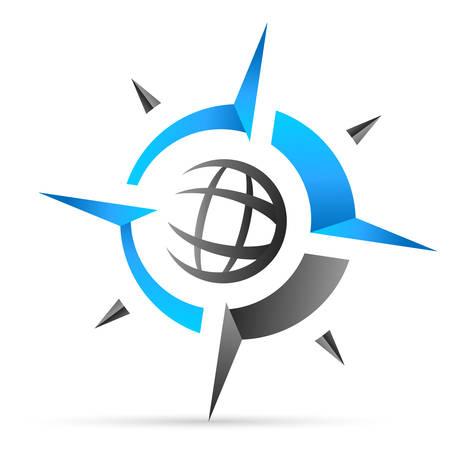 Illustration pour compass, navigation icon - image libre de droit