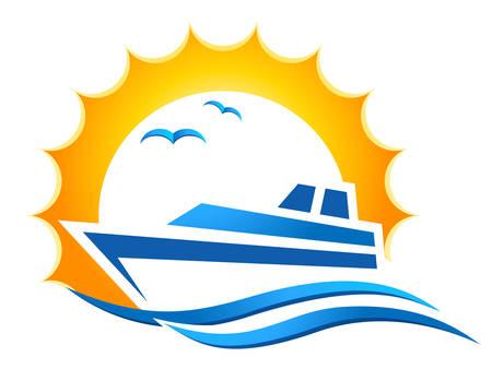 Yacht Club Logo Design Royalty Free Vector Graphics