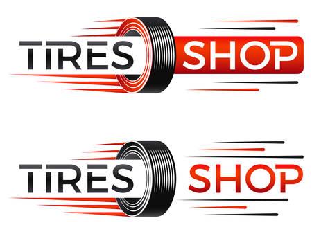 Ilustración de speed tires shop logo Vector illustration. - Imagen libre de derechos