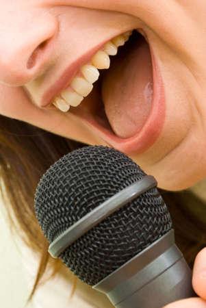 Singing Microphone Girl