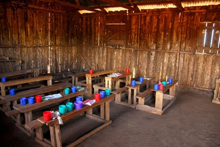 classroom of a school in Kenya