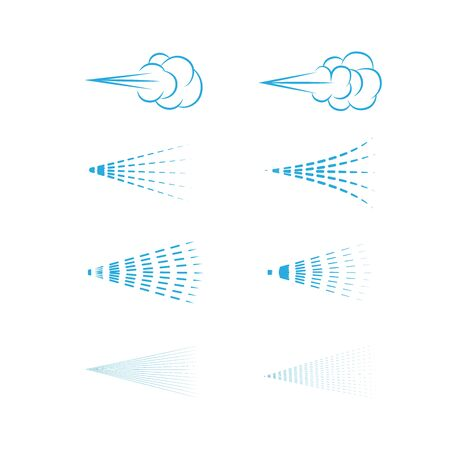 Illustration for Air Spray vector, aerosol, spray cloud, fluid spray, spray icon set. - Royalty Free Image