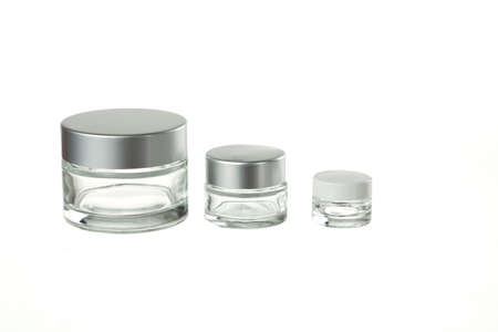 glass containers for ointment isolated