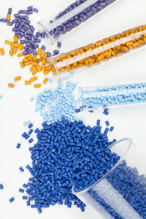 Photo for plastic granules close up for molding - Royalty Free Image