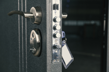 Photo for safety lock door, close up - Royalty Free Image