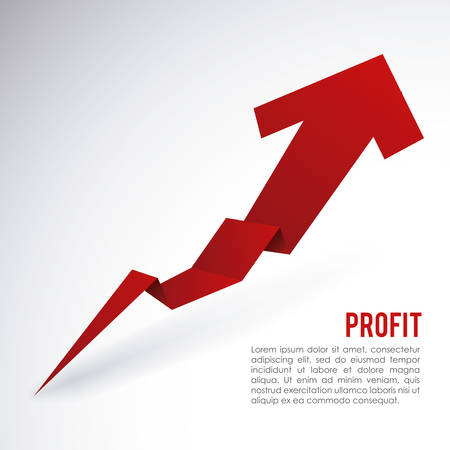 profit graphic design , vector illustration