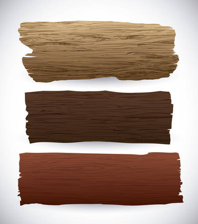 Wooden texture and objects design, vector illustration.