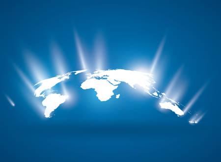 Ilustración de World design over blue background, vector illustration. - Imagen libre de derechos