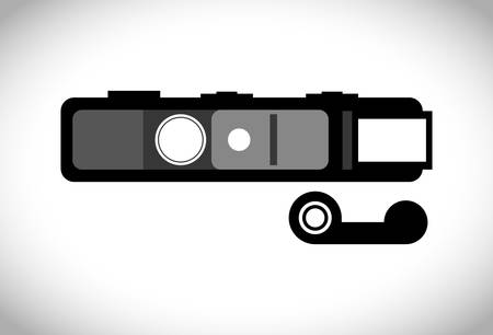 Camera design over white background, vector illustration