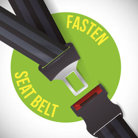 road sign of fasten belt design, vector illustration 10 eps graphic