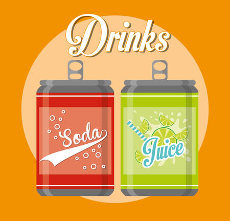 Soda concept with icons design, vector illustration