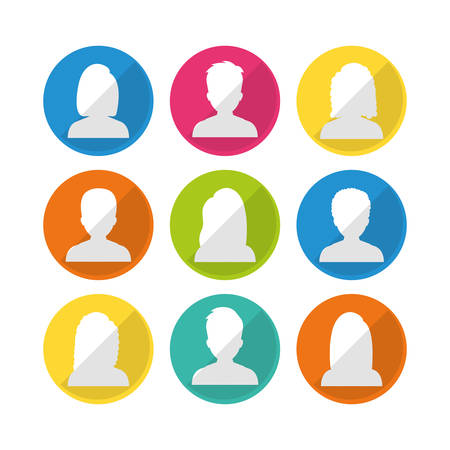 People profile graphic design, vector illustration