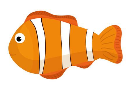 Ilustración de Sea fauna cartoon, vector illustration graphic design - Imagen libre de derechos