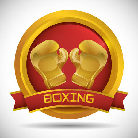 Boxing concept with gloves icon design, vector illustration 10 eps graphic.