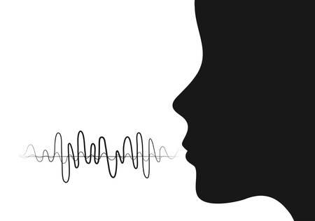 Illustration pour Sound of voice graphic design, vector illustration eps10 - image libre de droit