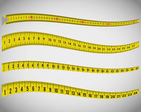 Measure tape and dieting graphic design, vector illustration eps10