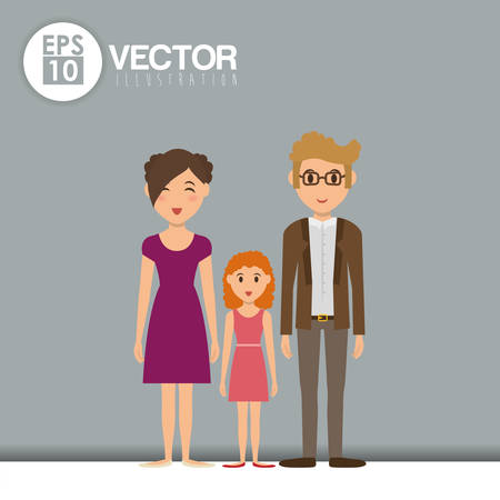 Family concept with people icon design, vector illustration 10 eps graphic.