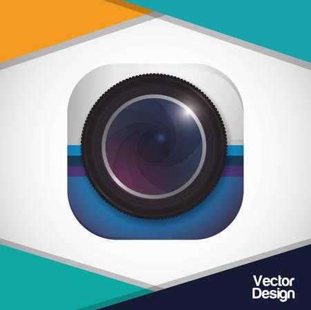 Camera concept with icon design, vector illustration 10 eps graphic.