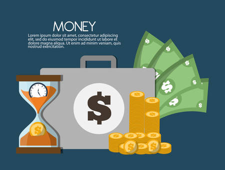Illustration pour Money savings concept with icon design, vector illustration 10 eps graphic. - image libre de droit