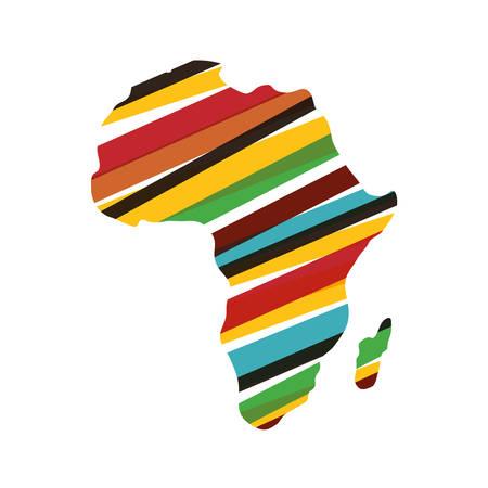 Illustration pour Africa map silhouette icon vector illustration graphic design - image libre de droit