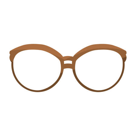 fashion glasses accessory icon over white background. hipster style design. vector illustration