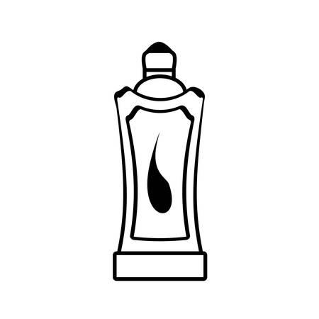 plastic bottle water portable gym vector illustration eps 10