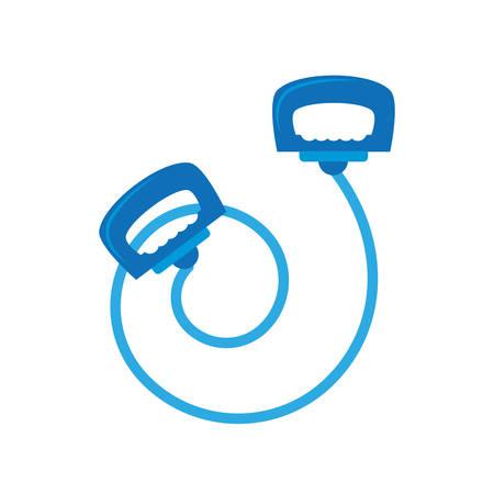 blue jump rope le sport vector illustration eps 10
