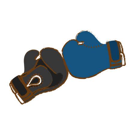boxing gloves icon image vector illustration design