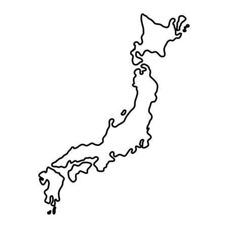 Vektor für Japan country map icon vector illustration graphic design - Lizenzfreies Bild