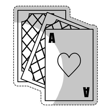 poker cards icon over white background. gambling games design. vector illustration
