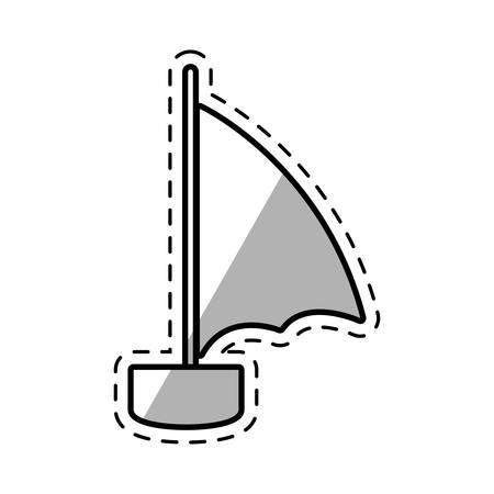sailboat recreation travel shadow vector illustration eps 10