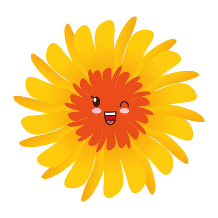flower icon over white background. vector illustration