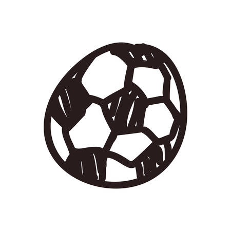 Ilustración de football doodle cartoon vector icon illustration graphic design - Imagen libre de derechos
