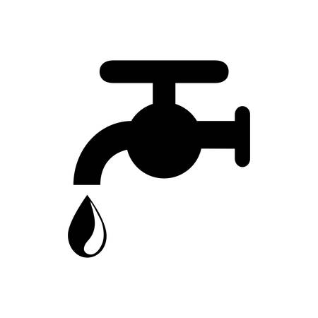 water faucet icon over white background. vector illustration
